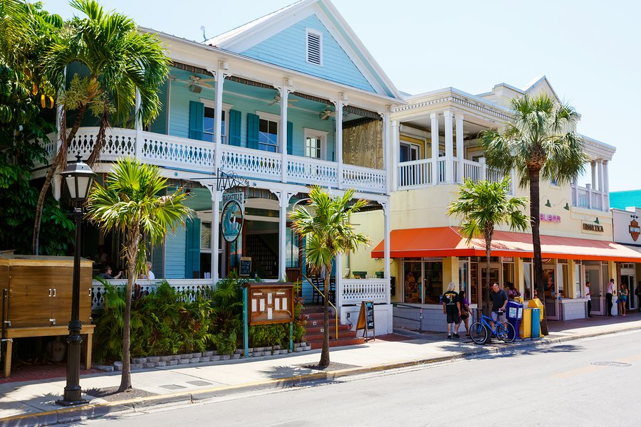 Colorful houses on Duval Street