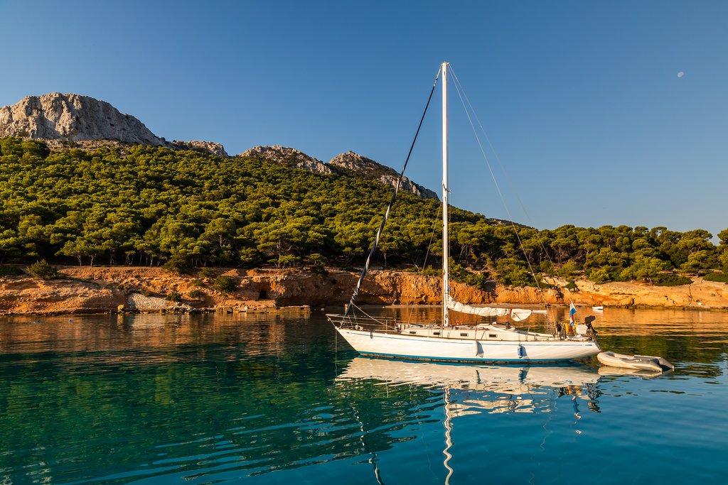 Yacht moored of Moni Island