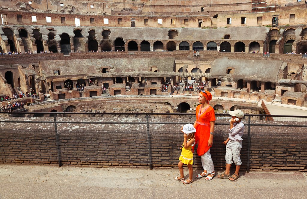 Family at the Colosseum