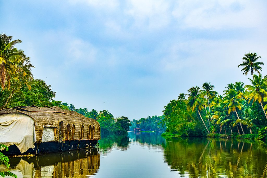 Houseboat stay in Kumarakom, India