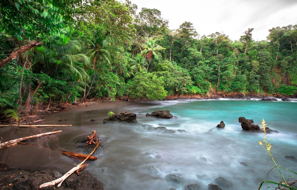 The unspoiled coast of the Osa Peninsula