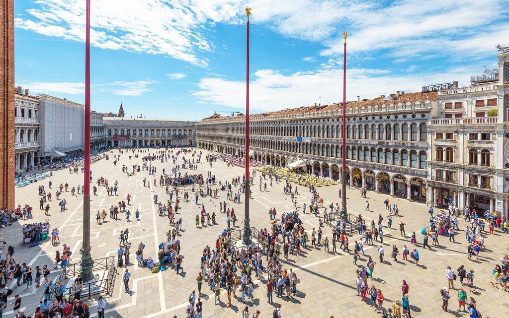 Venice's central St. Mark's Square