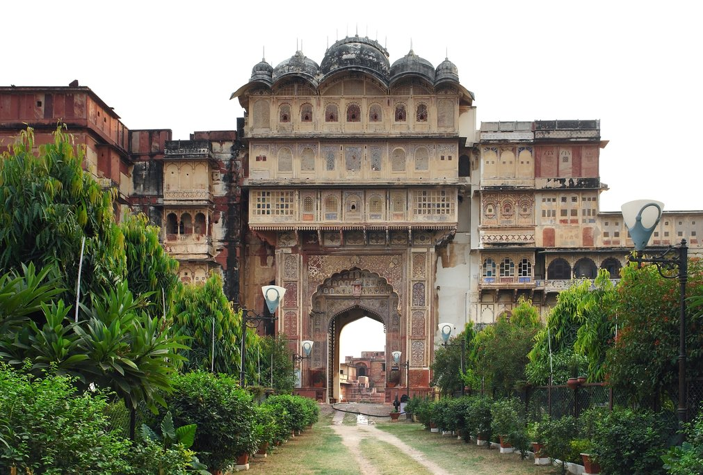 Enjoy the faded grandeur of Karauli City Palace before we head to Jaipur