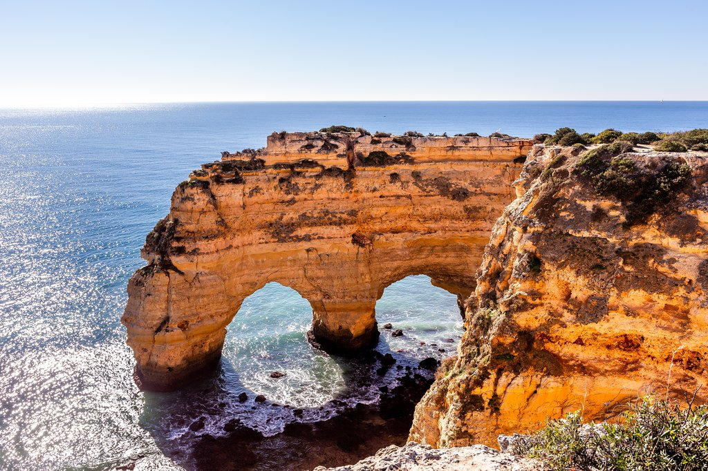 Cliffs of Marinha Beach in the Algarve, Portugal