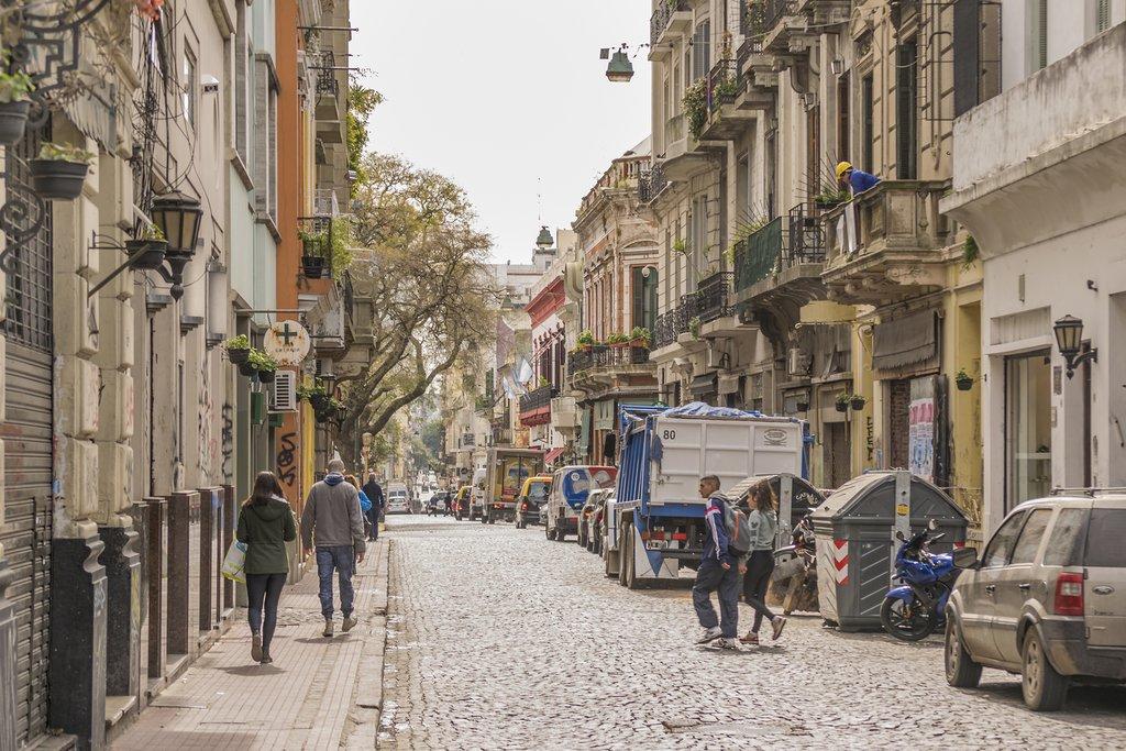 A cobbled street in San Telmo