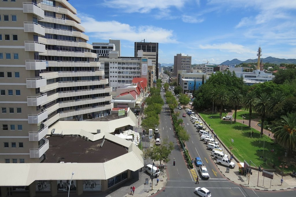 View from apartment of Windhoek city center