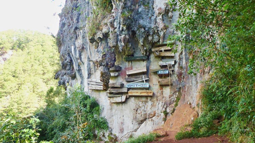 Hanging cemetery of Sagada, the Philippines