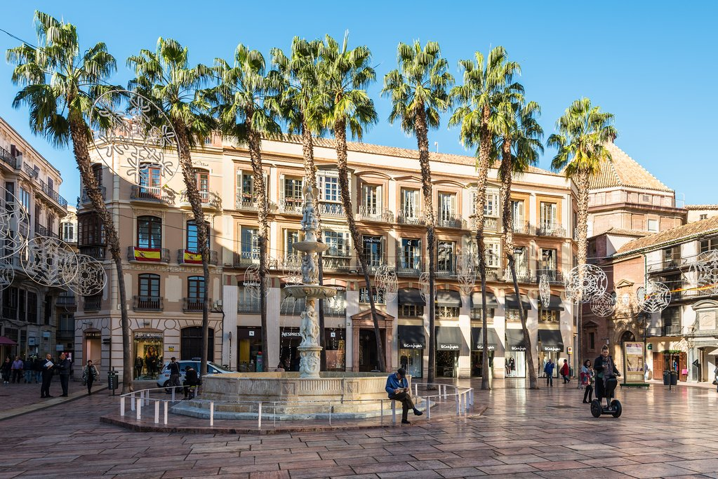Lively Squares in Málaga