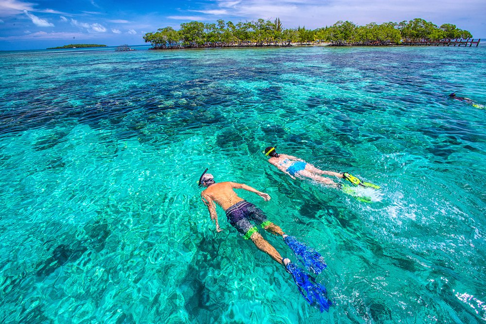 Snorkeling in the South Water Caye Marine Reserve