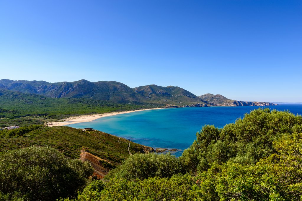 Sardinian Coastal View from Capo Pecora