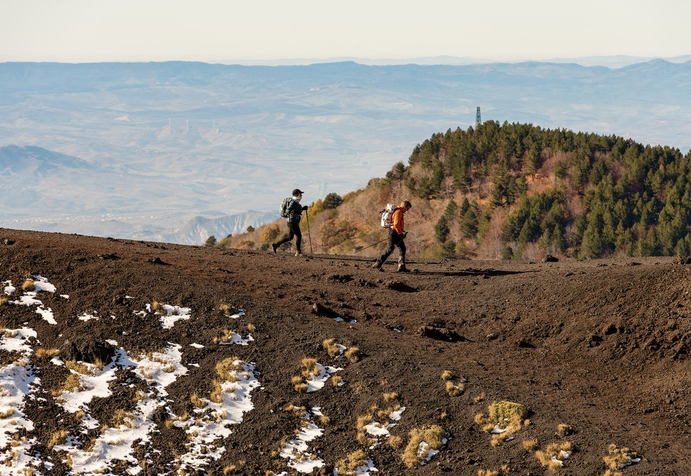 Hiking on Mt. Etna