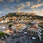 Monastiraki Square and Sunset over Plaka