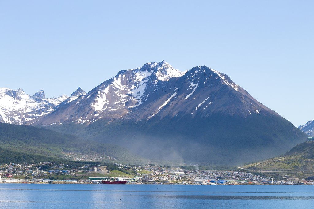 View of Ushuaia from the Beagle Channel