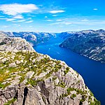 A view of Lysefjord from above