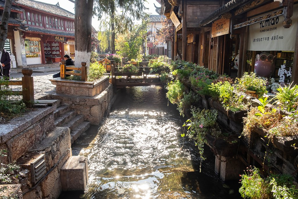Square Street in Lijiang Old Town