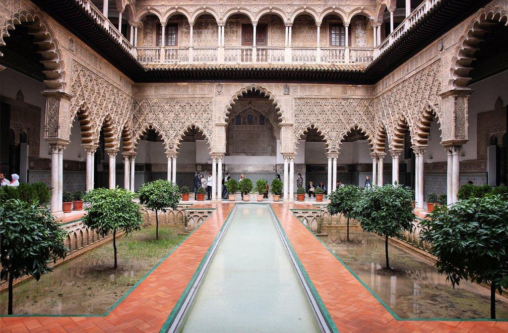 Spain - Sevilla - Fine mudejar architecture in Sevilla's Alcazar