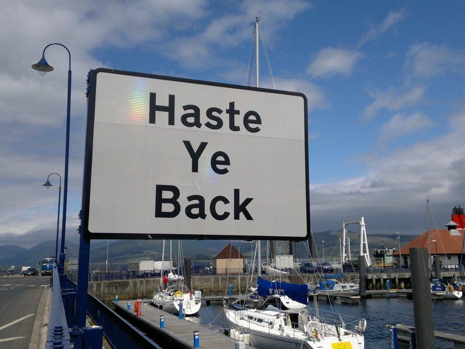 Haste ye back to Scotland
