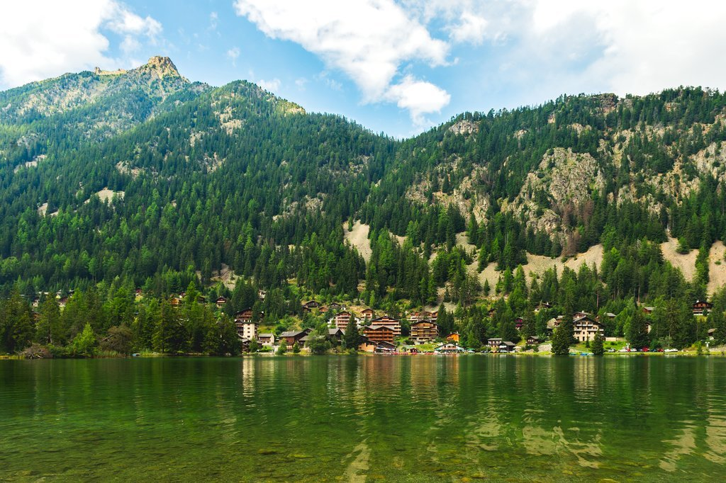 Boat station on Lake Champex