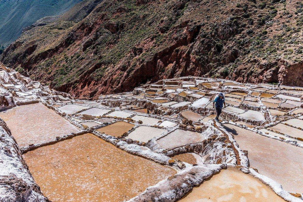 Ancient salt mines in Maras