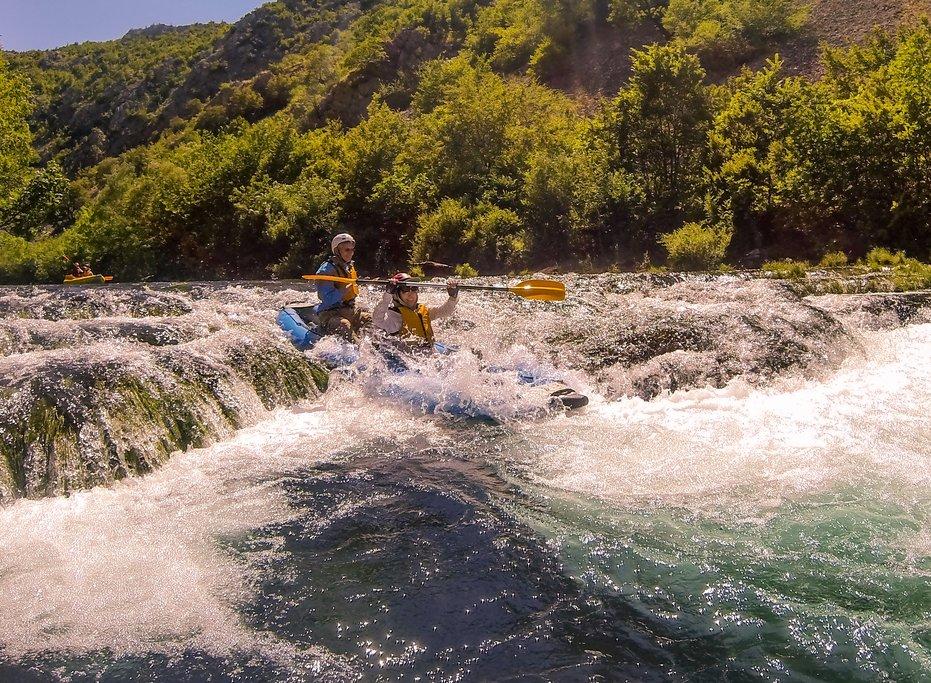 Whitewater kayaking on the Zrmanja River
