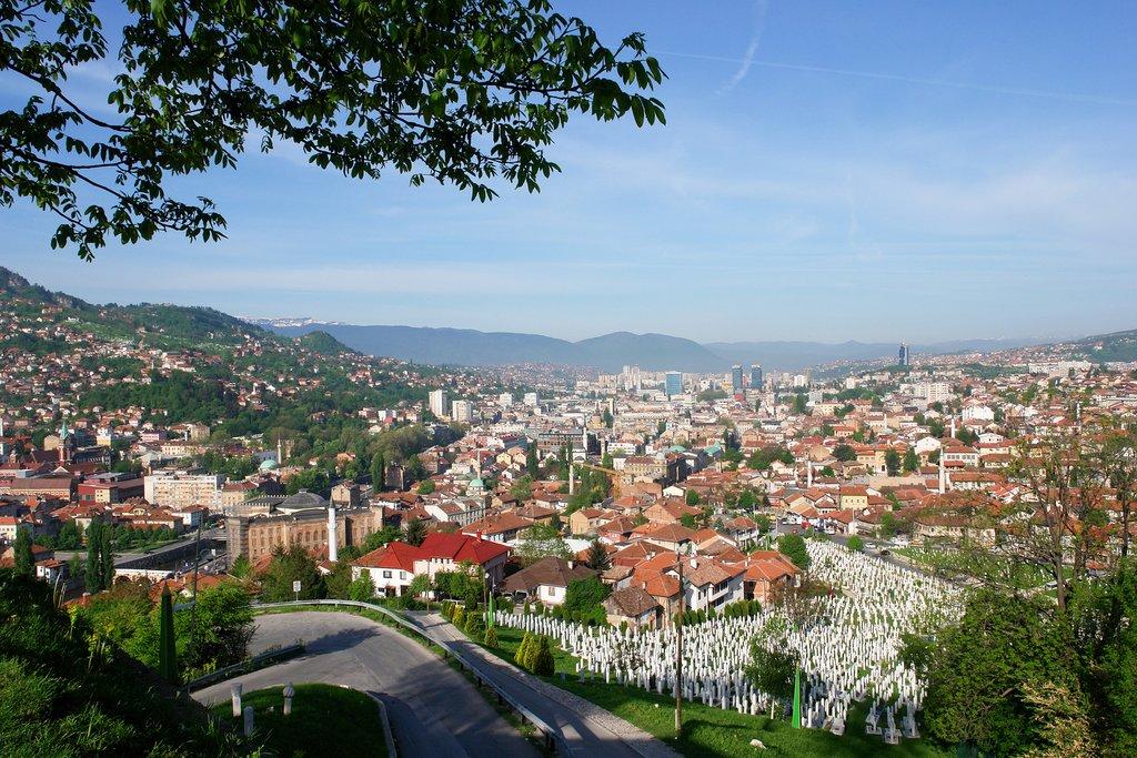 Sarajevo in the spring