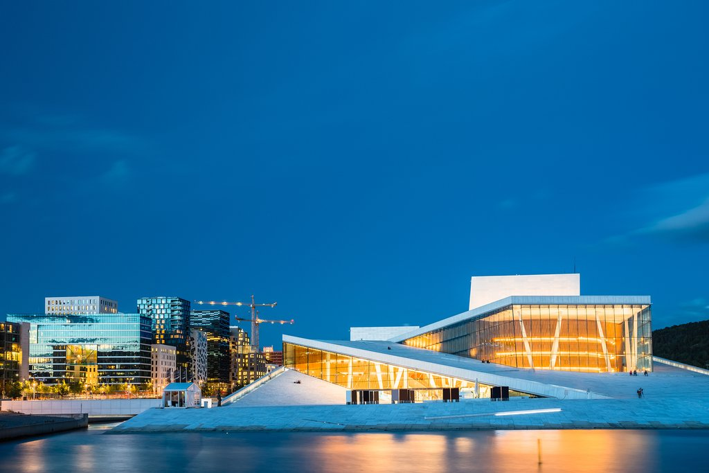 Oslo's National Opera House.