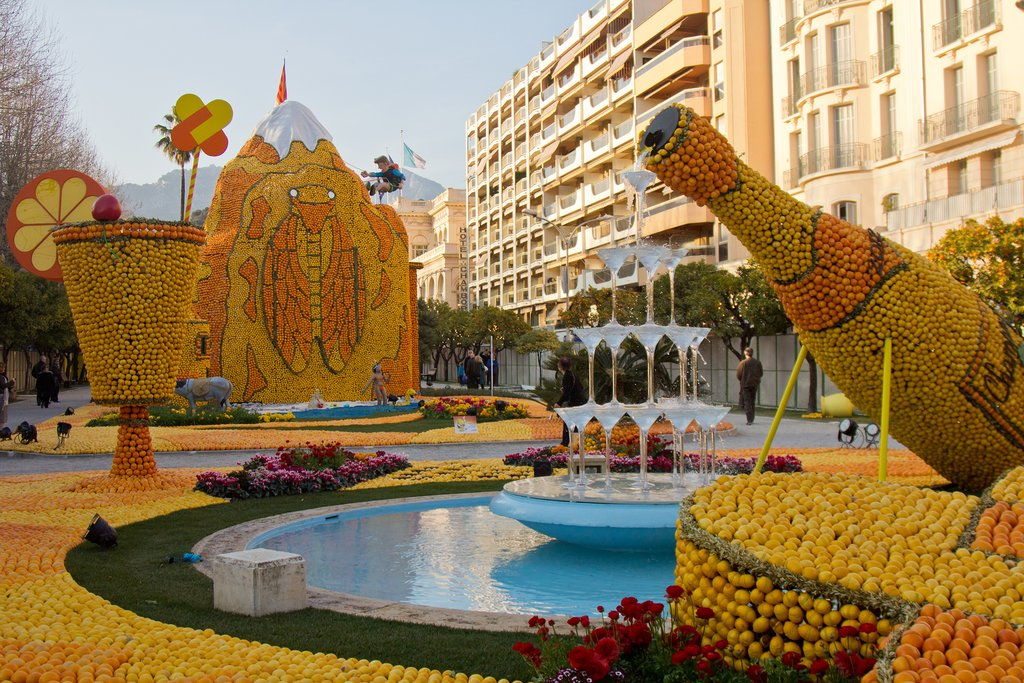 Lemon Festival in Menton on the French Riviera