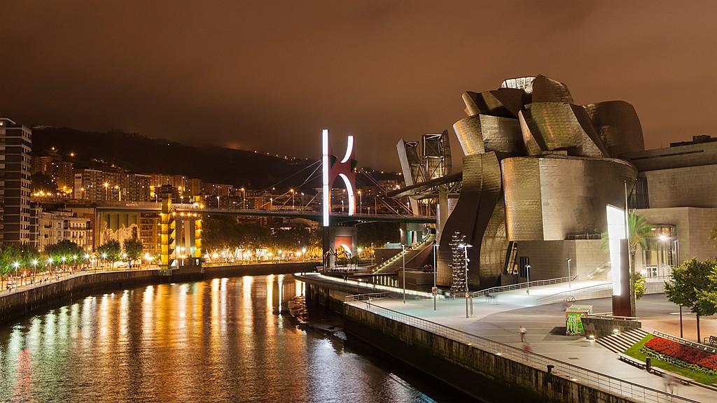 Bilbao at night