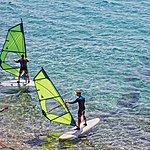 Windsurfing in the Adriatic off of Brač