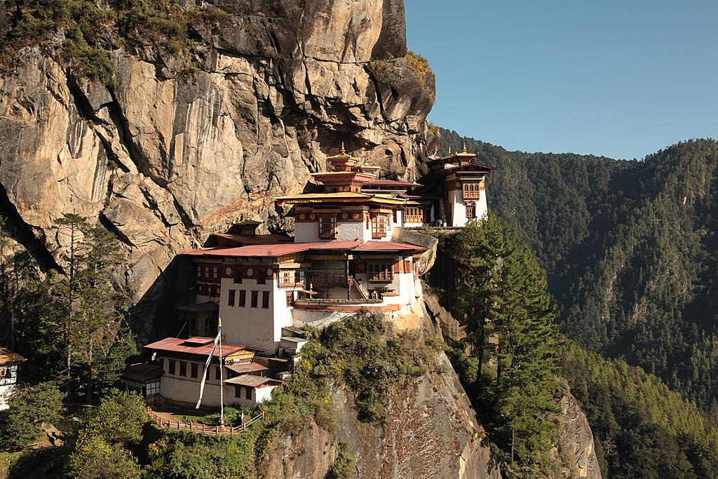 Aerial view of Tiger's Nest Monastery