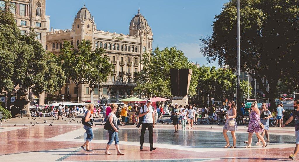 Plaza Catalunya in Barcelona