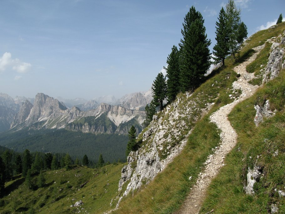 A mountain path in the Dolomites