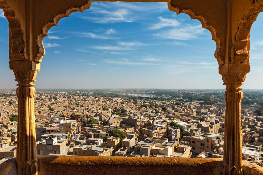 View from the Cenotaph at Jaisalmer