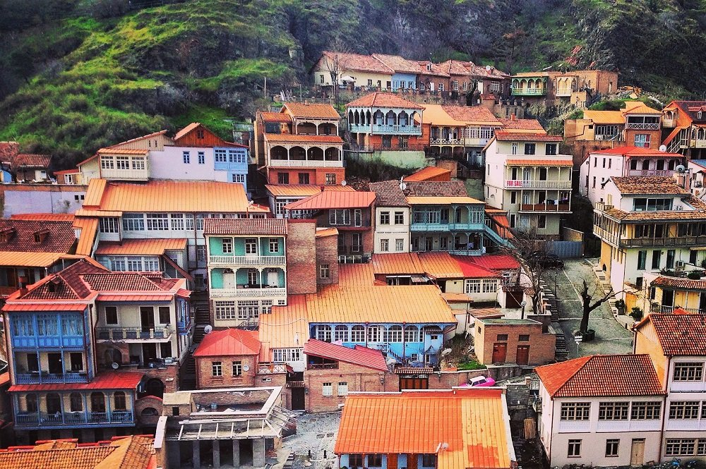 Colorful houses in Tbilisi