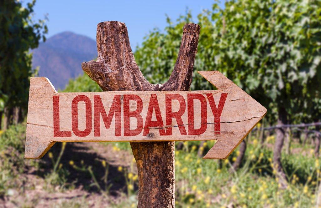 Lombardy wine region, northern Italy