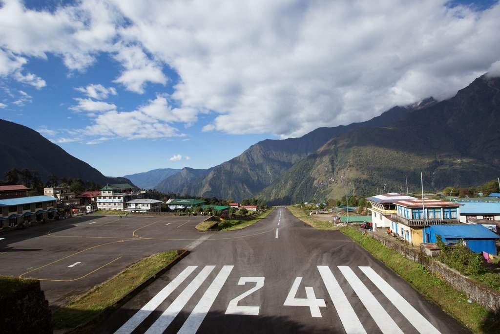 The Tenzing-Hillary airport in Lukla