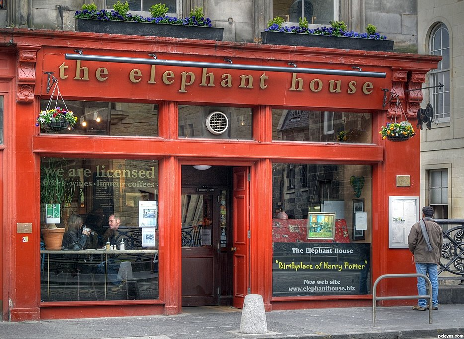 The Elephant House, the birthplace of Harry Potter