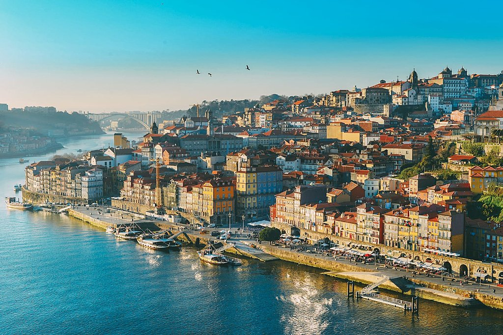 Porto's medieval townhouses line the vast Douro River