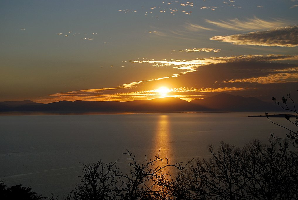Sunset on the Chapala Lake