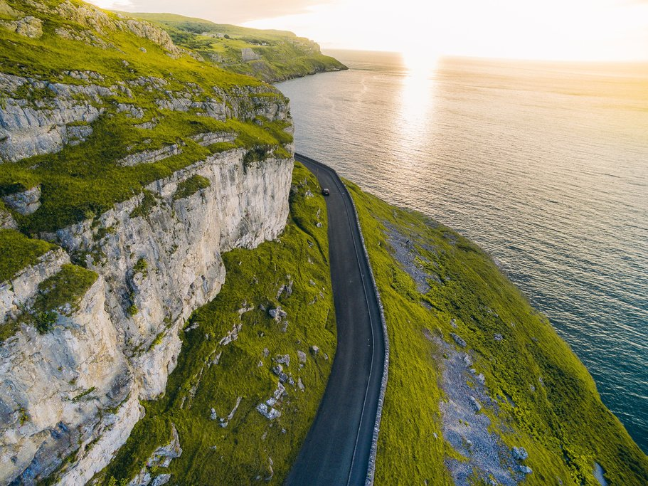 Winding road on the Cambrian Coast