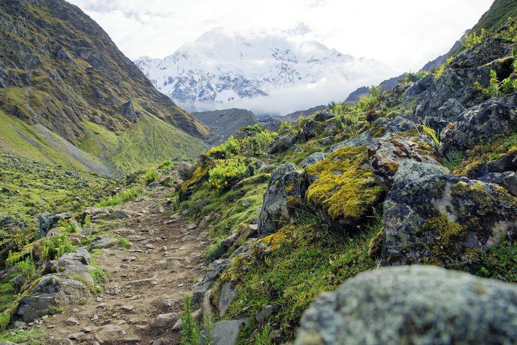 Salkantay is the highest mountain in the Vilcabamba range