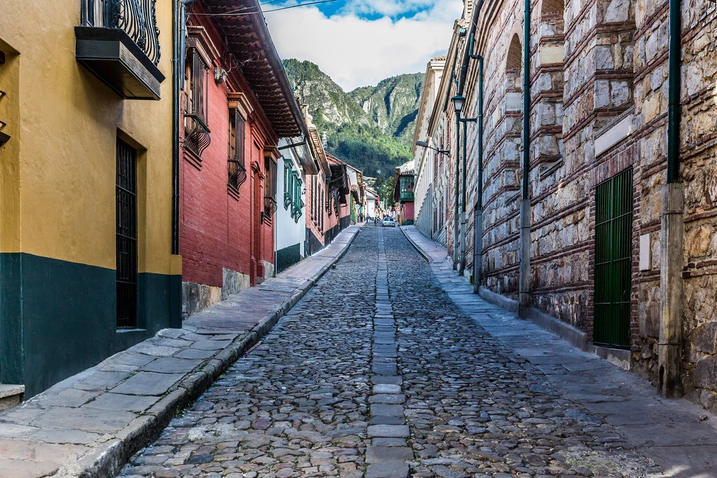 The colorful streets of La Candelaria