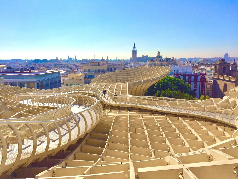 View from atop the Metropol Parasol {Photo by Robin Cross on Unsplash]