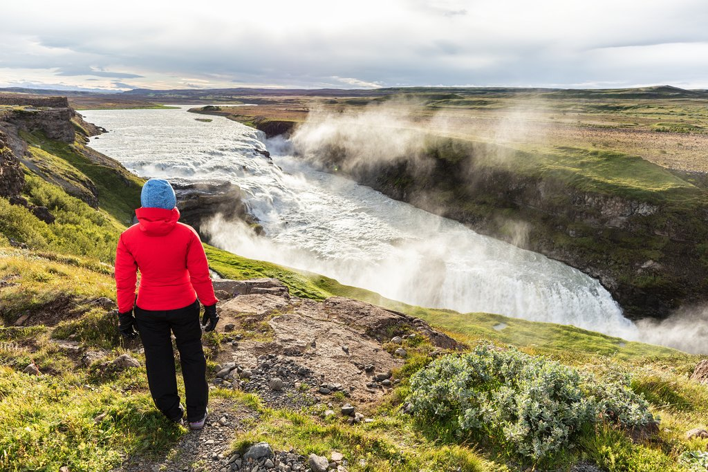 Gullfoss waterfall in the Golden Circle