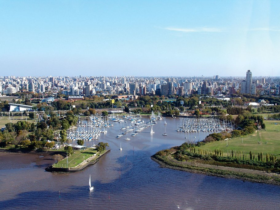 The harbor at Buenos Aires