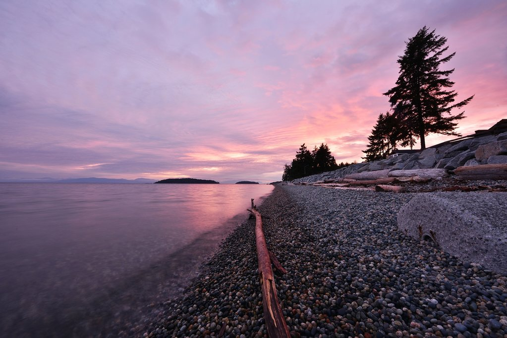 Sechelt Beach in winter, Sunshine Coast