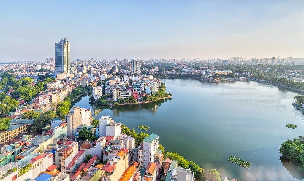 Aerial view of Hanoi