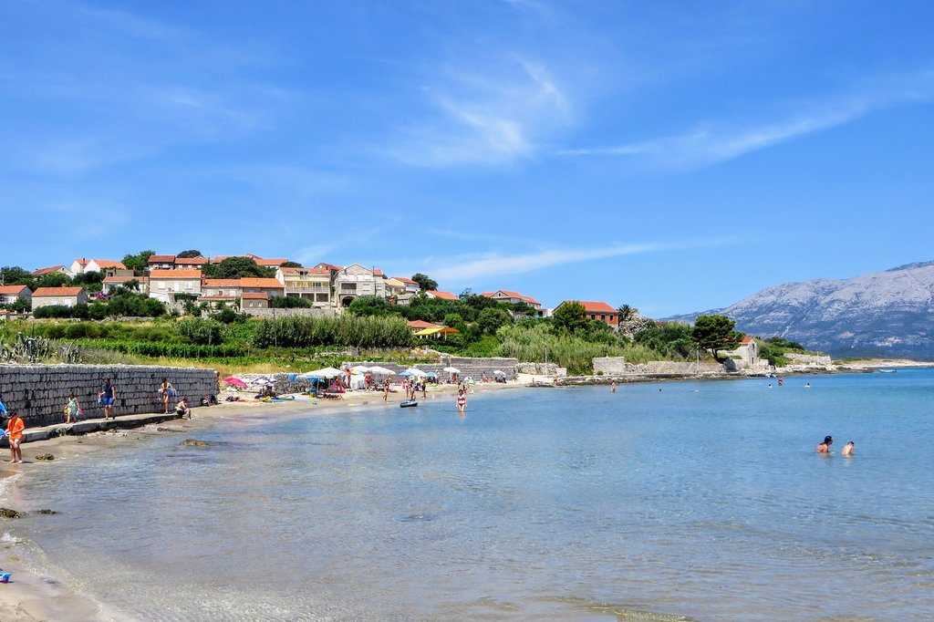 Lumbarda Beach in Korcula