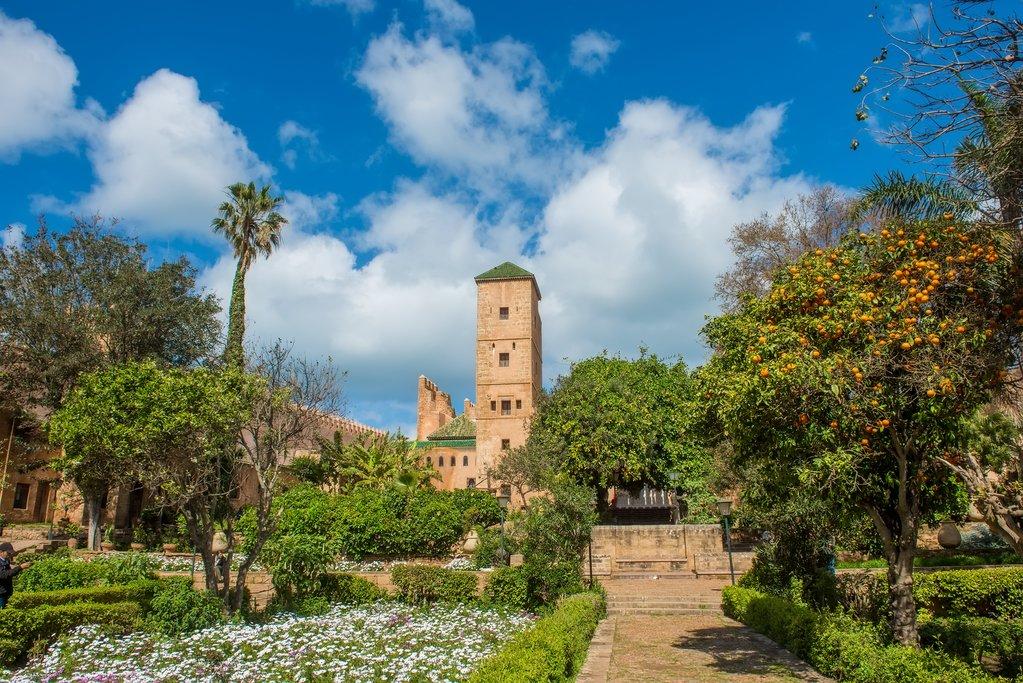 Andalusian Gardens at the Ouydaya Kasbah, Rabat