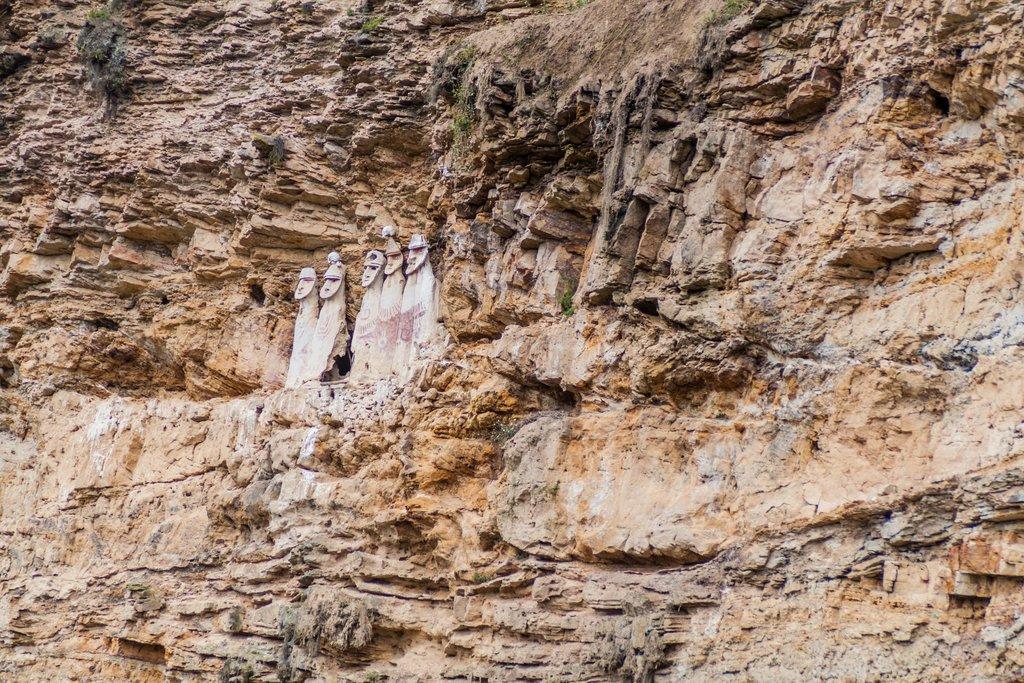 Sarcophagi watch over those below
